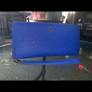 Royal Blue Tory Burch Wallet